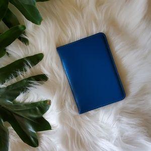 Genuine Leather Blue Passport Holder